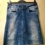 Re-fashion jeans into a denim skirt